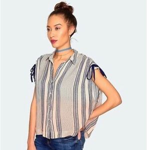 Free People Baby Blues Ombre Stripe Top